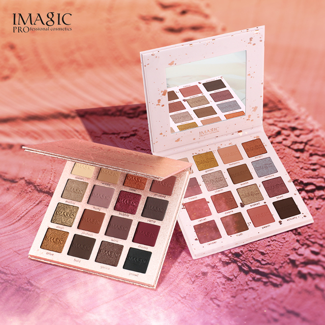 IMAGIC New Arrival Charming Eyeshadow 16 Color Palette Make up Palette Matte Shimmer  Pigmented Eye Shadow Powder 1