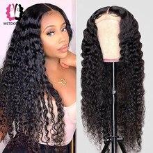 Onda profunda peruca frontal 13x6 peruca frontal do laço pré arrancadas peruca brasileira remy perucas para o cabelo humano feminino 4x4 peruca fechamento do laço mstoxic