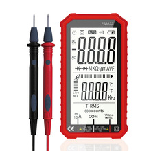 FS8233 Counts Digital Multimeter Smart Auto Range 1000V 10A Tester Meter Ohm Hz Capacitance REL True RMS AC DC DMM Multitester