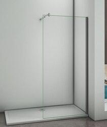 Mamparas de Ducha Frontales Puerta Fijo WALK IN Antical 8mm Cristal Barra 70cm-120cm