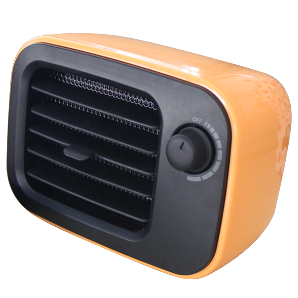 Портативный мини подключаемый тепловентилятор 500 Вт PTC Электрический обогреватель пространства для домашнего офиса Оранжевый/США штекер