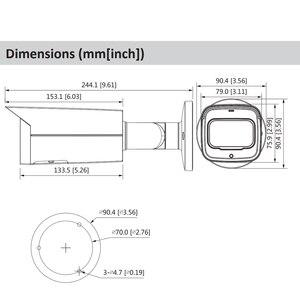 Image 2 - Dahua Original IPC HFW2831T ZAS S2 8MP 4K 5X Zoom POE SD Card Slot Audio Alarm I /O H.265+ 60M IR IVS IP67 Starlight IP Camera