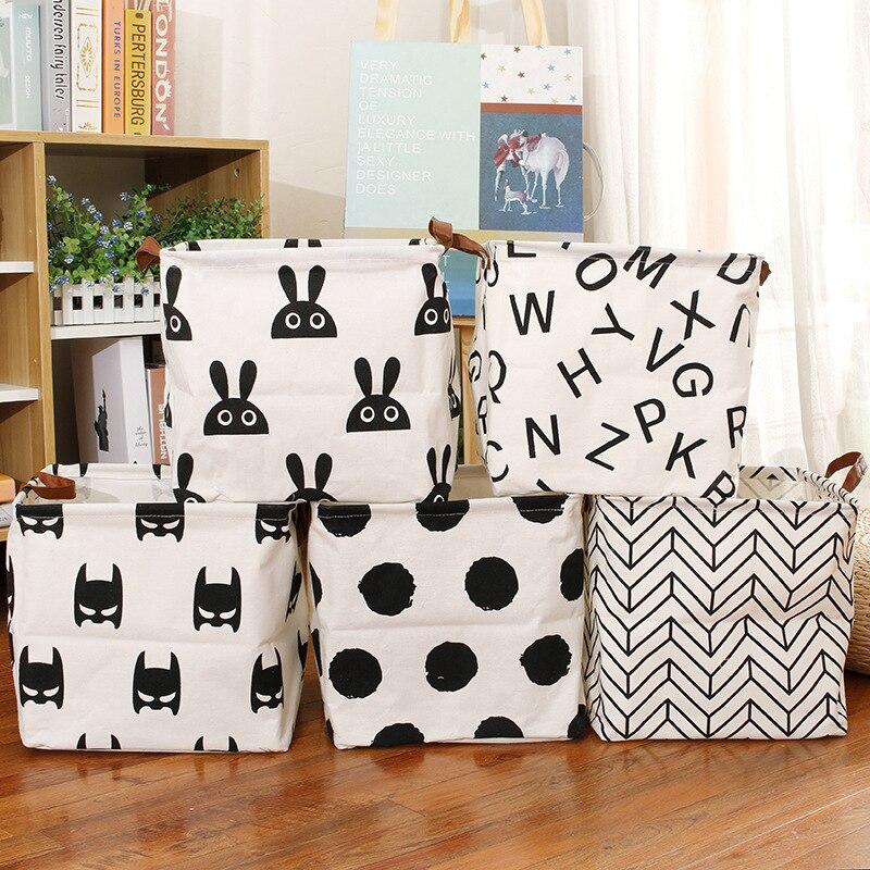 Foldable Home Storage basket Clothes Laundry Basket Makeup Storage Box Sundries Organizer Underwear Socks Toys Storage Basket