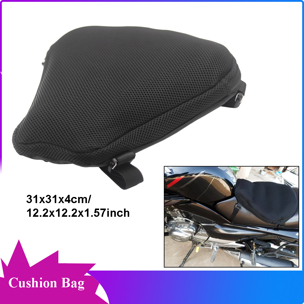 Motorcycle Mesh Net Cool Seat Cushion Cover Protector Breathable Anti-Skid For 9 Grides Seat Cushion For ATV Bike