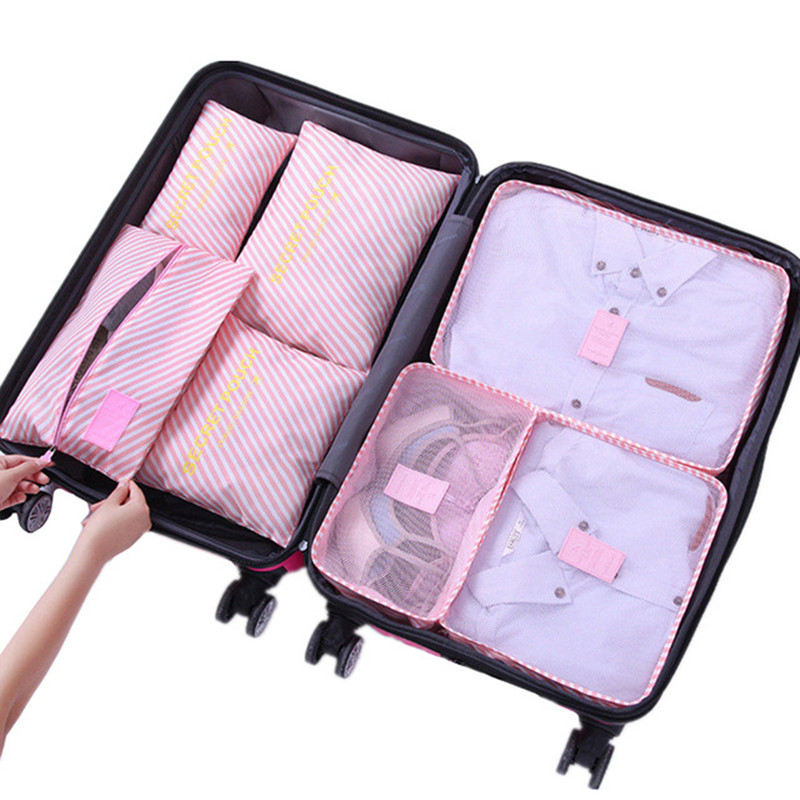 7Pcs/set Travel Luggage Organizer Clothes Finishing Storage Bag Cosmetic Clothing Organizer Bag Home Travel Accessories XYLOBHDG