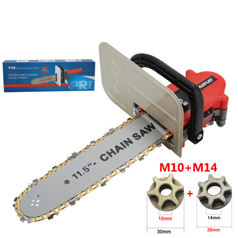 Electric Saw Parts Upgrade 11.5 Inch Bracket Changed 100 125 150 Electric Angle Grinder 11.5 Inch M10/M14/M16 Chainsaw Bracket