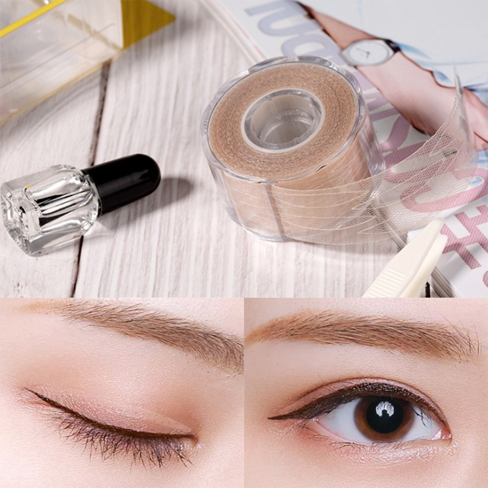 600 Stickers Invisible Double Eyelid Tape Eyelid Lift Strips Perfect For Droopy Uneven Or Mono Eyelids