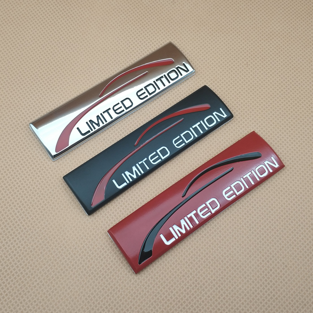 1x 3D Metal Limited Edition Badge Emblem Fender Sticker Auto Accessories Decal title=