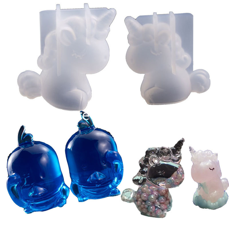 1PC Cute Animals Shaped Silicone Jewelry Mold UV Resin Epoxy Tools Jewelry Making Tools DIY Pendant Molds