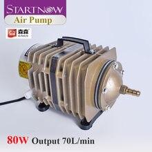 Startnow pompa powietrza 80W SUNSUN pompa sprężarki powietrza 220V dla hodowli ryb fajka wodna zawór zwrotny ACO-005 70L/Min