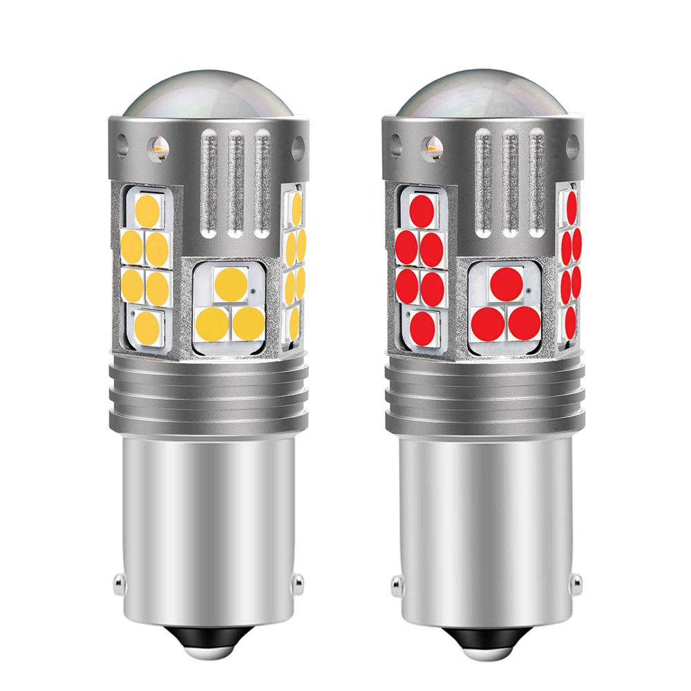 2Pcs New 1156 BA15S 7506 P21W Super Bright LED Car Tail Brake Bulbs Turn Signals Auto Backup Reverse Lamp Daytime Running Lights