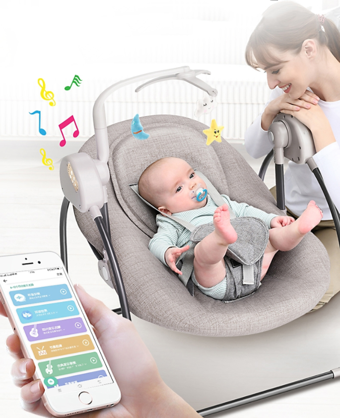 Baby electric rocking chair cradle baby comfort recliner rocking chair baby supplies bed Russia free shipping