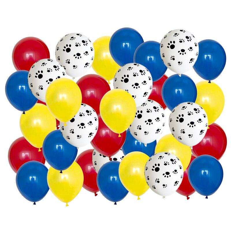 Для выведения токсинов, 40 шт смешанных 12 ''машина ля стрижки домашних животных собак Paw воздушных шаров из латекса, забавные животные тема ве...