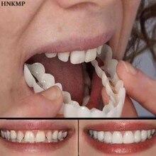 Superior/inferior clareamento falso dente capa conforto ajuste snap em silicone beleza folheados dentes higiene oral ferramentas