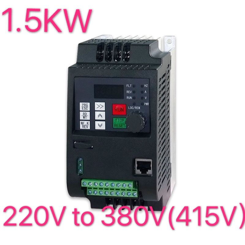 Convert 220v single phase input to 380v three phase Output 1.5kw 1HP VFD Variable Frequency Drive Inverter