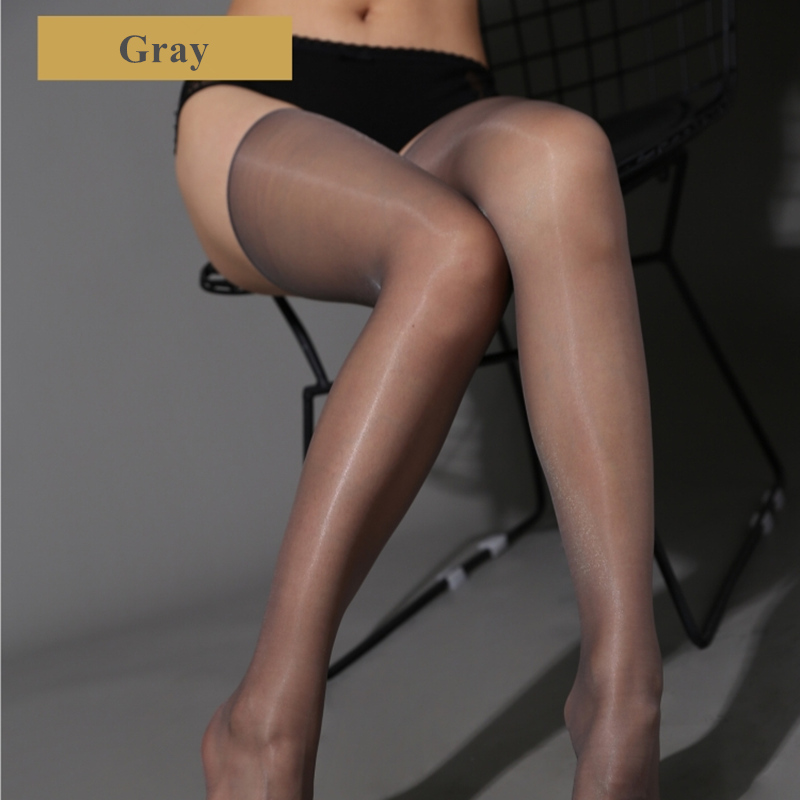 Sexy Oil Glossy Stockings Ultra Thin Transparent Thigh High Stockings Female Erotic Lingerie Sexy Hosiery Nylon Pantyhose