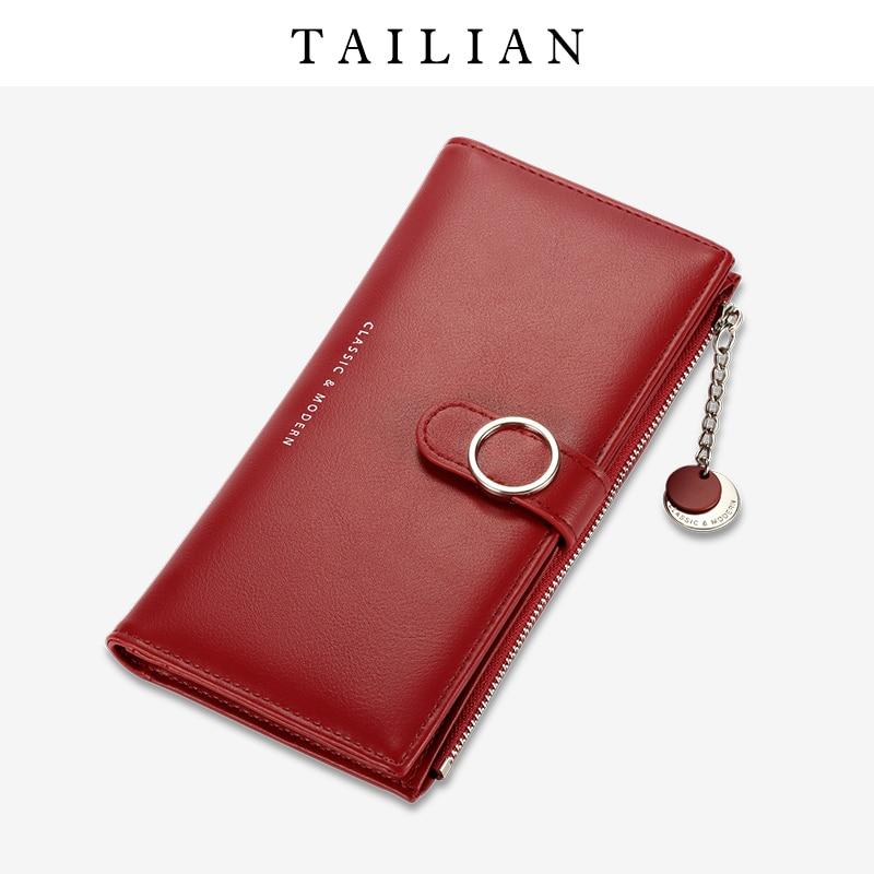 Women Wallets Stylish Buckle Long Wallet Tailian Brand 2020 New Design Classic