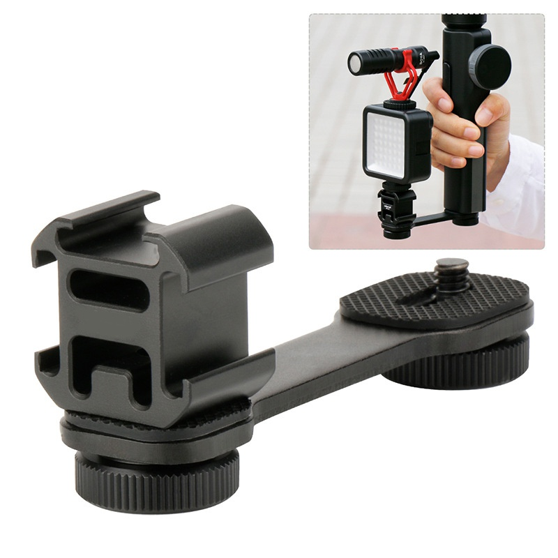 High Quality Metal Extention Bar Mounts Smooth Mobile Phone Stabilizer Gimbal LED Light Microphone Bracket Accessories