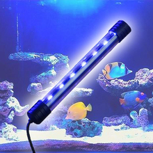 Aquarium Fish Tank LED Light Submersible Waterproof Underwater Bar Strip Lamp EU Plug 46cm 18pcs led aquarium fish tank light tube bar light underwater submersible air bubble safe lighting us eu uk saa plug