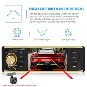 Image 2 - 4019B 4,1 zoll 1 Eine Din Auto Radio Audio Stereo AUX FM Radio Station Bluetooth Autoradio Unterstützung Rück Kamera Fernbedienung control