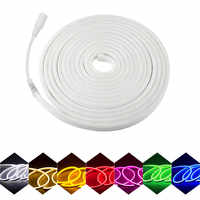 LED Neon light 12V LED strip Flexible Rope Tube Waterproof for DIY Holiday Decoration Light red Pink gre blue warm white yellow