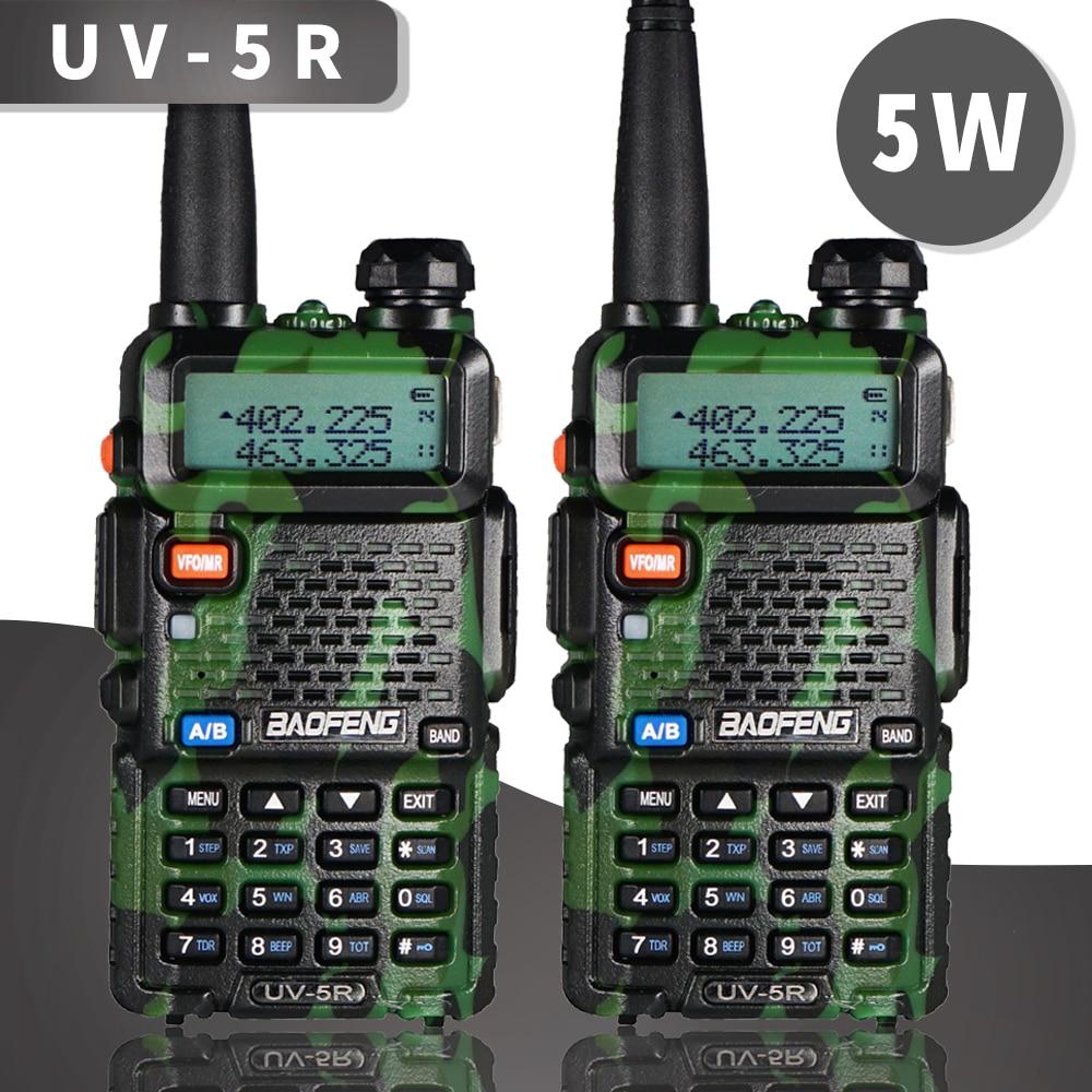 100% Original Baofeng Walkie-Talkie UV-5R Portable Amateur Radio BF-UV5R 5W Two-way Radio Dual Band VHF/UHF Radio Ham Radio