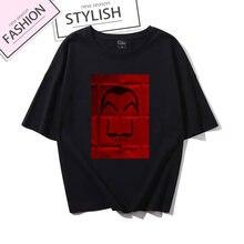 Женская прикольная футболка la casa de papel топы футболки женские