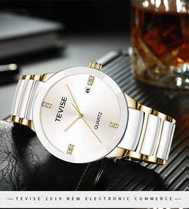 Image 4 - Femmes de luxe montres TEVISE haut à la mode marque acier inoxydable montre étanche femme robe Quartz montres Relogio Feminino