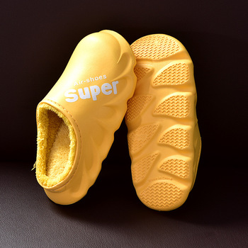 Waterproof Non-Slip Home Slippers Women EVA Slippers Winter Warm Indoor Cotton Shoe Ladies Soft Couples Shoes Thick Bottom 11