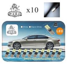 10 pces t10 conduziram canubs w5w 4014 194 luzes do carro bulbo auto fabricação independente 24 lâmpada led é muito branco brilhante, amarelo