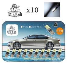 10 sztuk T10 LED canubs W5W 4014 194 światła samochodowe żarówka Auto produkcja niezależna 24 led żarówka jest bardzo jasna biała, żółta