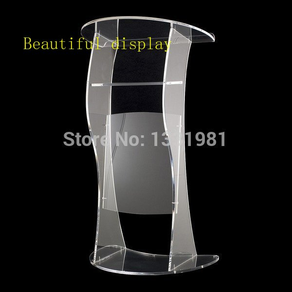 Free Shipping Cheap Church Acrylic Podium/Clear Modern Stable Acrylic Lectern Acrylic Podium Plexiglass