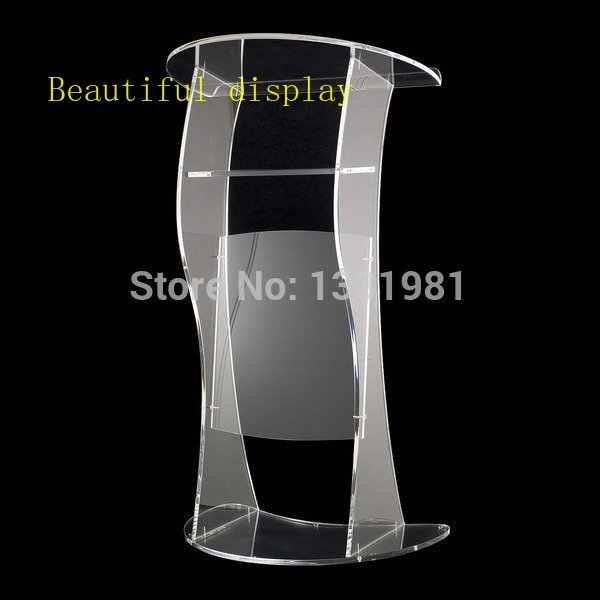 Freies verschiffen Billig Kirche acryl podium/Klar moderne stabile acryl rednerpult acryl podium plexiglas
