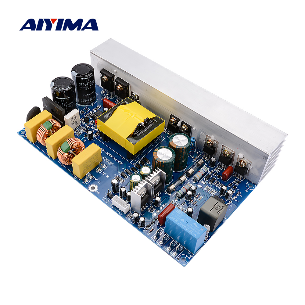 AIYIMA 1000W <font><b>Power</b></font> Amplifier Audio Board <font><b>Class</b></font> <font><b>D</b></font> Mono Digital Sound Amplifier Speaker Amp With Switch <font><b>Power</b></font> <font><b>Supply</b></font> Home Theater image