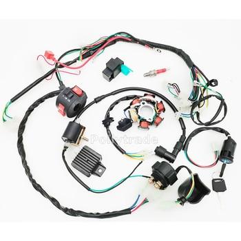 50CC-110CC Mini 4 tiempos ATV arnés de cableado completo estator CDI 6 Polo de bobina encendido eléctrico Quad Dirt Pit Bike piezas chinas