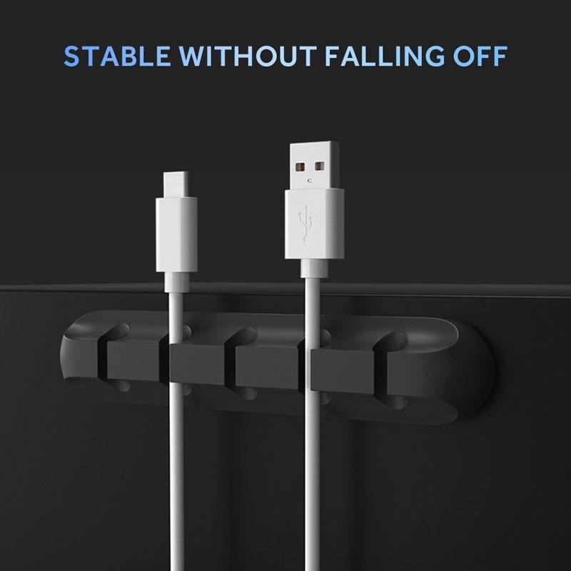 Yihaifu C/âble Silicone Winder Porte-Cord Gestion Holder Bureau Bureau de Fil de Fil et Chargeur C/âble USB de Stockage Organisateur