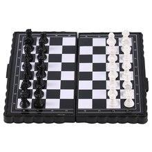 1 компл. Мини шахматы складные магнитные пластиковые шахматные доски Портативные Детские игрушки 2020 Прямая поставка
