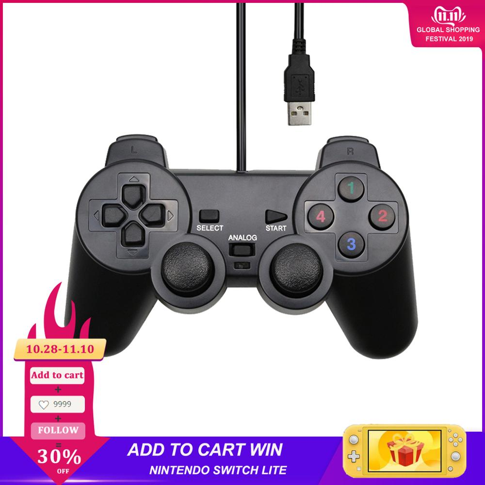 Wired USB Controller Gamepad For WinXP/Win7/Win8/Win10 For PC Computer <font><b>Laptop</b></font> Black Game <font><b>Joystick</b></font> image