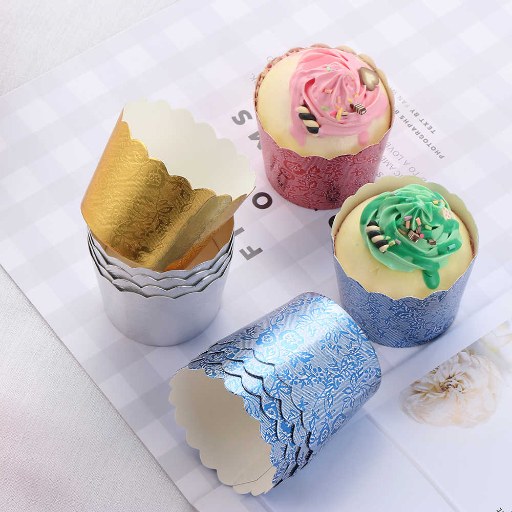 50PCS Paper Cake Liner Muffin Mousse Cupcake Case Cup Baking DIY Wedding Party
