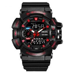 Top marka mężczyźni oglądać na zewnątrz sport elektroniczny zegarek człowiek wojskowy zegarki mężczyźni G styl zegarek kwarcowy zegarki podwójny zegar w Zegarki kwarcowe od Zegarki na