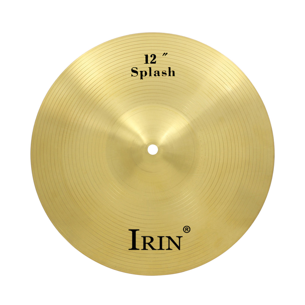 IRIN Professional 12 inch Brass Alloy Crash Ride Hi-Hat Cymbal for Drum Percussion Set Students Beginners