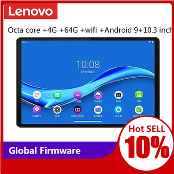 Lenovo tablet M10 PLUS MediaTek P22T Octa core 4G RAM 64G ROM 10.3 inch WIFI Android 9 TDDI FHD 10 point touch tablet PC 1