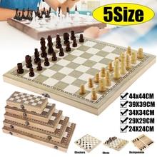 3 em 1 conjunto de tabuleiro de xadrez de madeira dobrável jogos de viagem xadrez backgammon checkers brinquedo chessmen entretenimento jogo de tabuleiro brinquedos presente