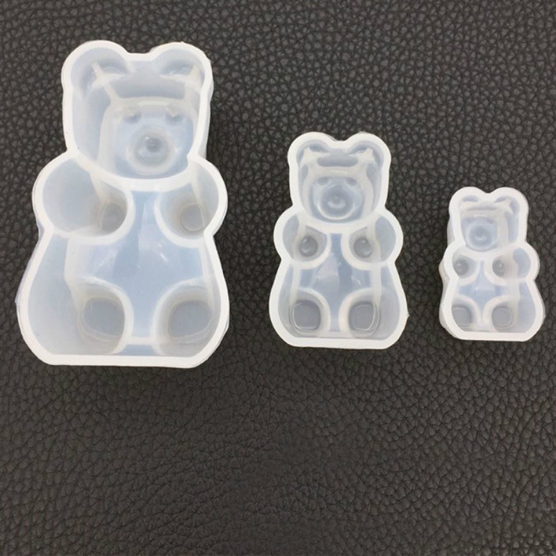 Bear Candy Silicone Mold Animal Cabochon Mold Kawaii UV Resin Art Epoxy Resin Flexible Mold Jewelry Making Tools