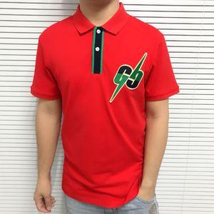 Image 3 - 2019 list haft męskie koszulka POLO na co dzień wzór Streetwear z krótkim rękawem proste bawełniane 100% projektant luksusowe mężczyźni odzież