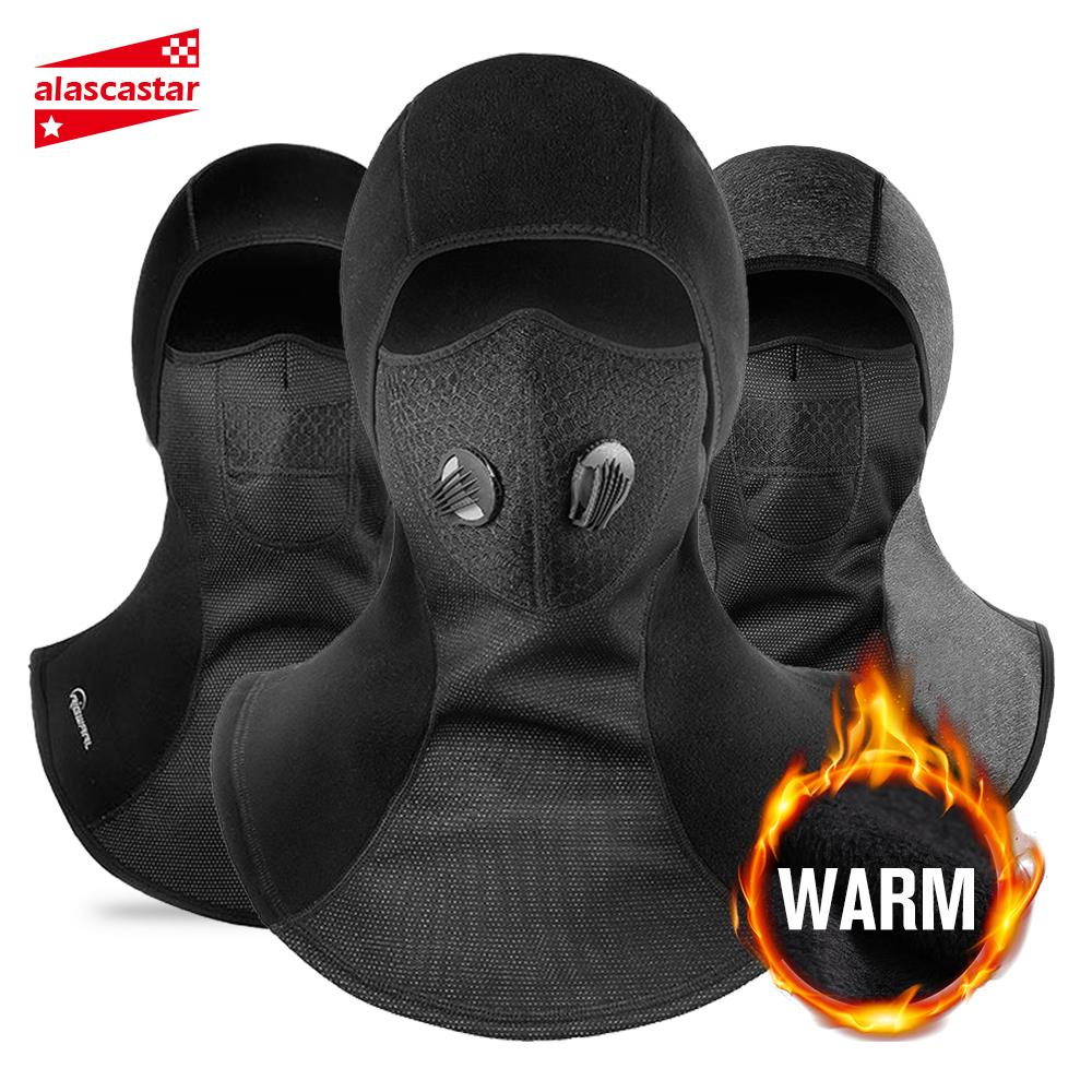 New Balaclava Winter Face Mask Motorcycle Face Shield Ski Waterproof Thermal Fleece Skull Face Mask Moto With Breathable Vents