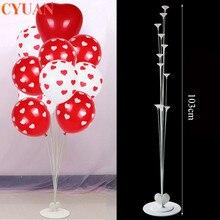 Globos de boda Corazón de decoración soporte de columna soporte de Globos Decoración de cumpleaños Globos de San Valentín Globos