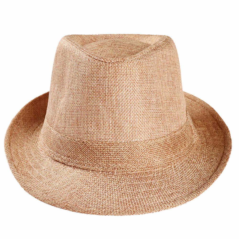 JAYCOSIN 帽子日焼け夏ユニセックスフェルト帽ギャングキャップビーチ太陽わらバンド Sunhat 屋外調節可能なスポーツキャップ