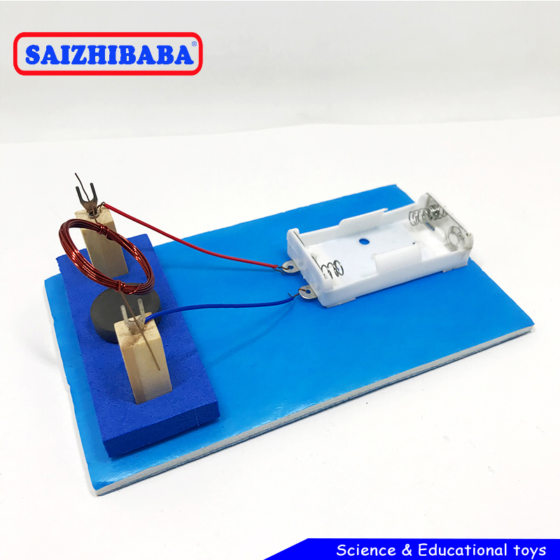 Saizhibaba Creative Diy Electric Toy Physical DC Motor Model Toy Developing Intellectual STEM Motor Toy Birthday Gift