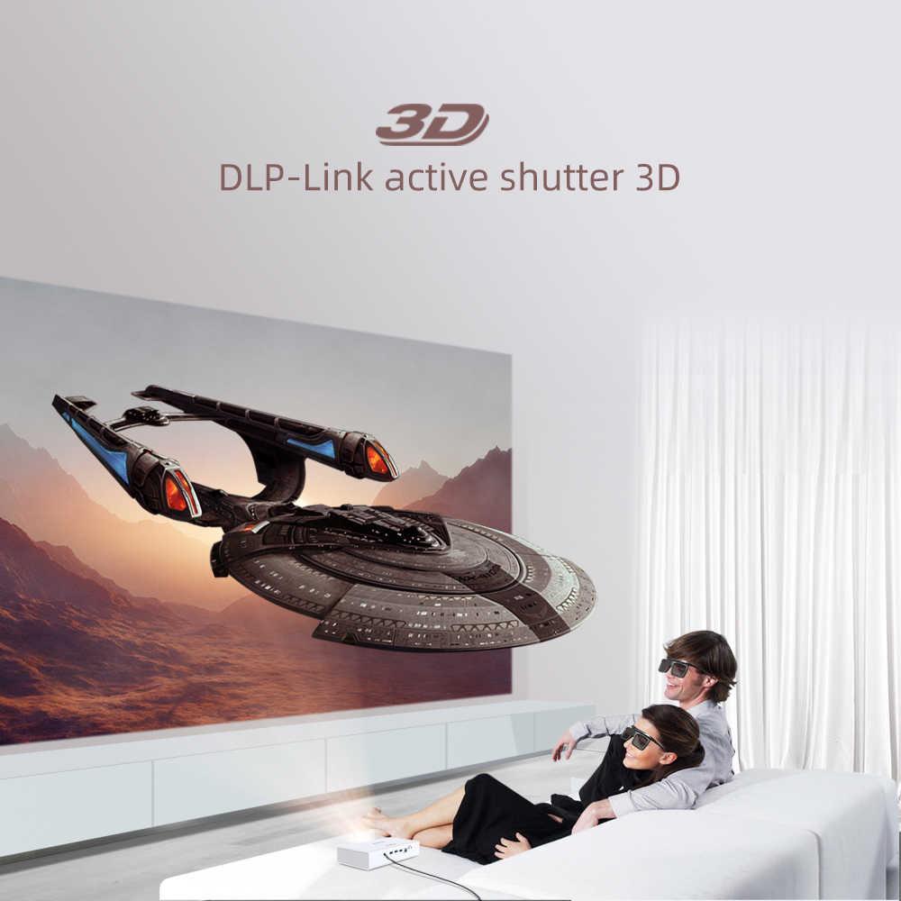 BYINTEK R19 DLP mini proyector apoyo 3D 4K DLP pantalla Full HD 1080P HDMI 1280*800dpi 700 lumen ANSI proyector Android